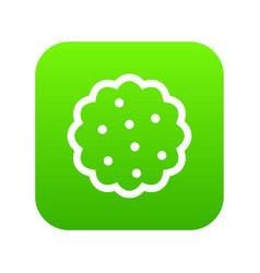 Cookies icon digital green vector