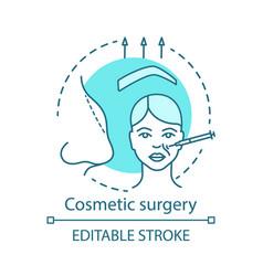 Cosmetic surgery concept icon vector