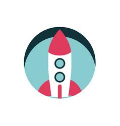 digital marketing rocket launch startup vector image
