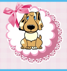 doily dog vector image