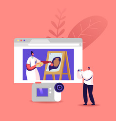 drawing video course art class hobby man vector image
