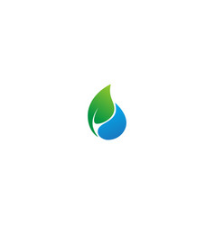 Eco droplet bio logo vector
