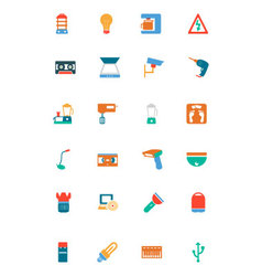 Electronics Colored Icons 4 vector