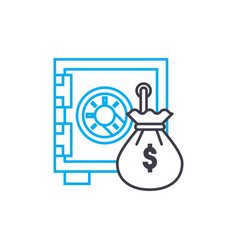 financial security thin line stroke icon vector image