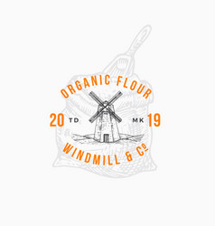 flour windmill abstract sign symbol or vector image