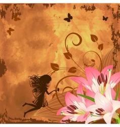 Flower fantasy fairy vector