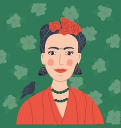 Frida khalo portrait vector