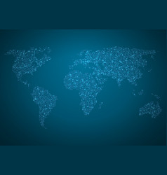 global map world map glowing atlas vector image