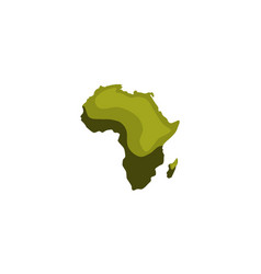green image of modern africa map vector image