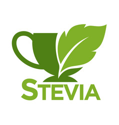 green symbol of stevia or sweet grass on white vector image