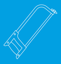 Hacksaw icon outline style vector