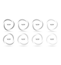 Halftone circle dots frame set logo dots emblem vector