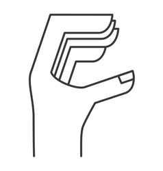 hand human sign isolated icon vector image
