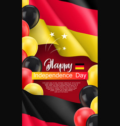 happy germany independence day festive poster vector image