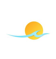 icon sun wave vector image