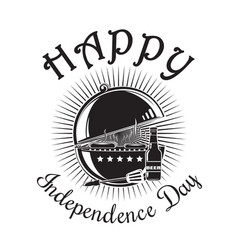 independence day logo design vector image