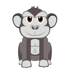 isolated cute gorilla vector image