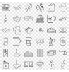 Jar icons set outline style vector