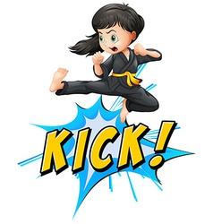 Kick logo vector image