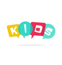 kids logo children education school vector image