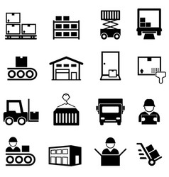 logistics warehouse distribution center vector image