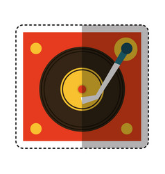 long play player retro music icon vector image