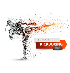 male athlete is kicking sport dot vector image