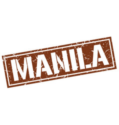 manila brown square stamp vector image