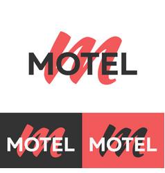 Motel logo letter m logo logo template vector
