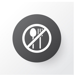 Not eating icon symbol premium quality isolated vector
