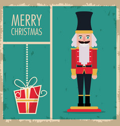 Nutcracker merry christmas design vector