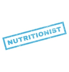 Nutritionist Rubber Stamp vector