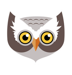 Owl bird carnival mask childish masquerade element vector