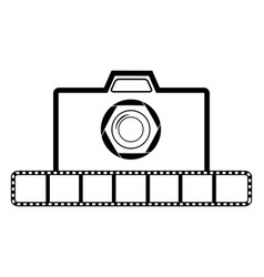 photo camera icon set on white background for vector image