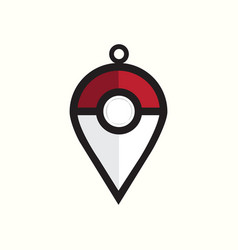 Pokemon logo template vector