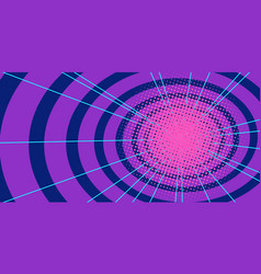 red circles tunnel background vector image