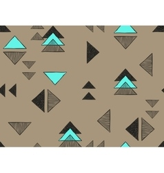 Seamless hand-drawn triangles pattern vector image