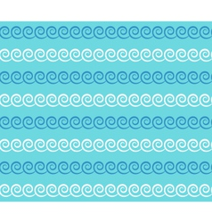 Seamless sea pattern Blue and white waves on light vector image