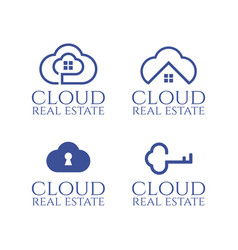 set logo template for real estate theme vector image