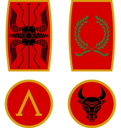 Set of ancient shields vector