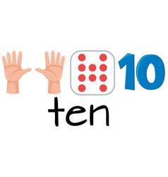 set of number ten vector image