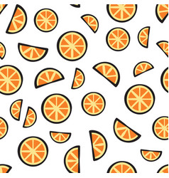 slices fresh orange fruit on white background vector image