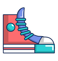 Sneakers hipster shoes icon cartoon style vector
