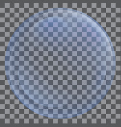 soap round bubble icon realistic style vector image