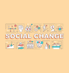 Social change word concepts banner vector