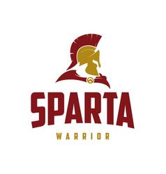 Sparta or spartan warrior logo design vector