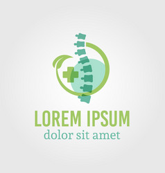 spine diagnostic center isolated logo vector image