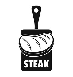 steak logo simple style vector image