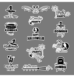 Stickers For Halloween Party vector image