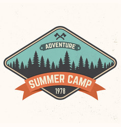 summer camp patch concept vector image